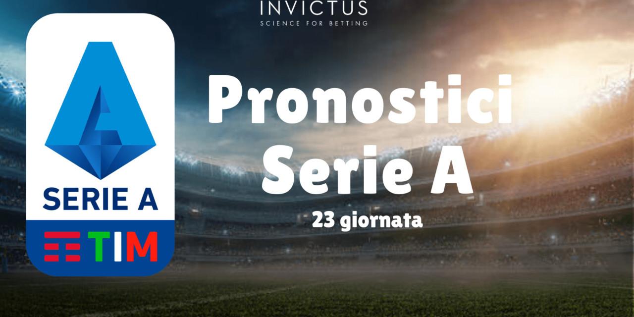 Pronostici Serie A: 23 giornata