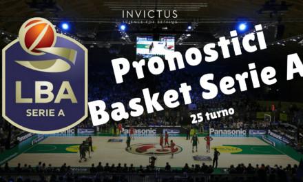Pronostici basket Serie A: 25 turno