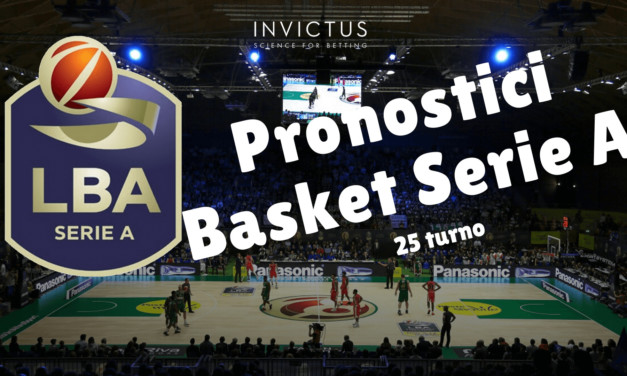 Pronostici basket Serie A: 25 turno