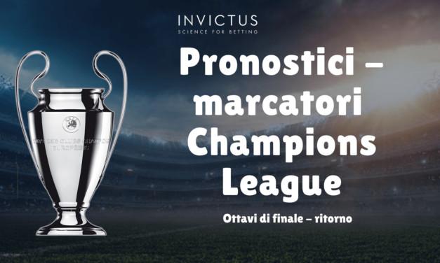 Pronostici marcatori Champions League: ottavi di finale – ritorno