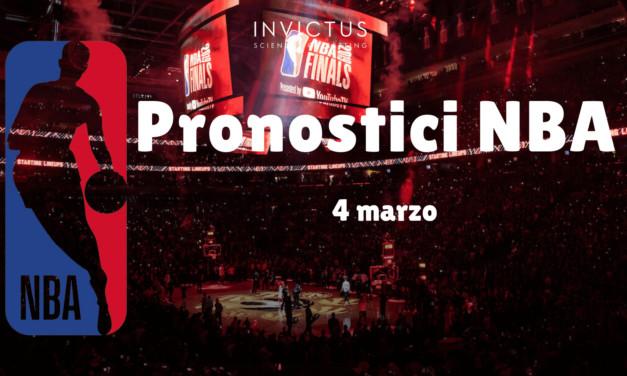 Pronostici NBA: 4 Marzo