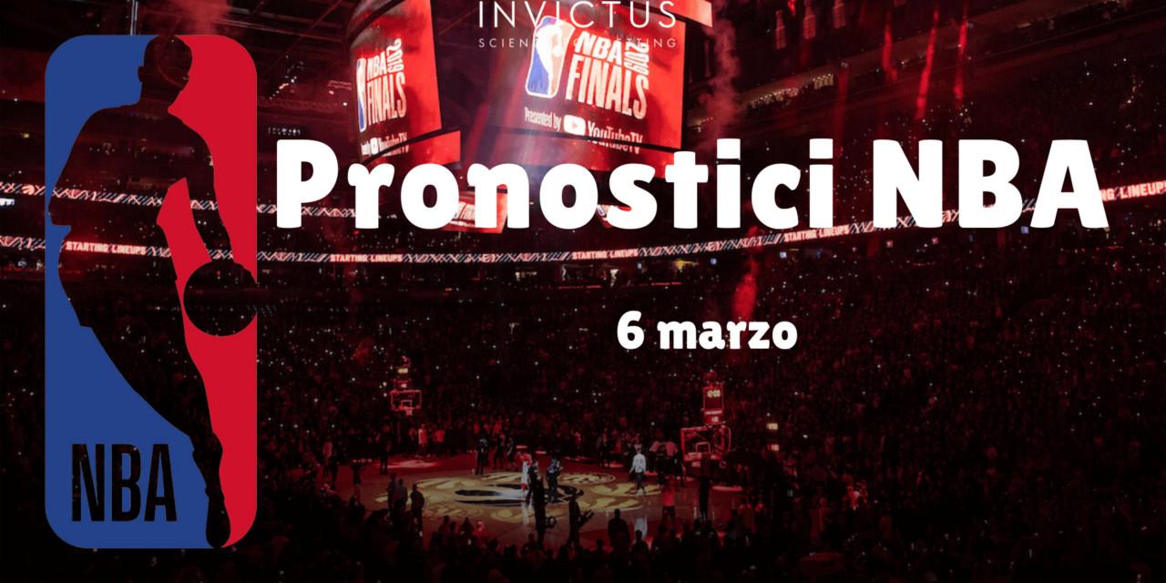 Pronostici NBA: 6 marzo